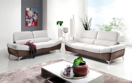 Blanco - Sedací set (pulse coffe D207/new lucca snow P706)