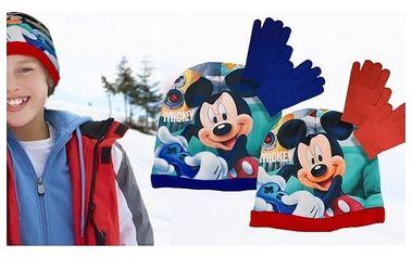 Souprava čepice a rukavice Mickey Mouse
