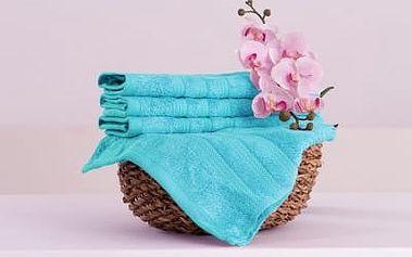 XPOSE ® Bambusový ručník SÁRA - azurová 30x50cm 6ks