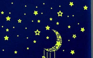 Samolepka na zeď - Svítící noční obloha