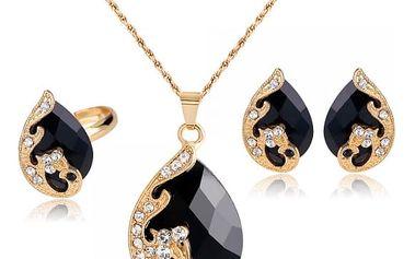 Nádherná sada šperků s motivem páva - 5 barev