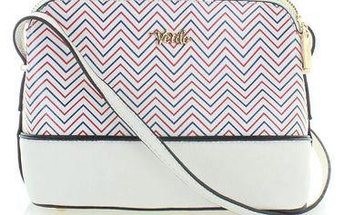 Bílá kabelka Zig-Zag