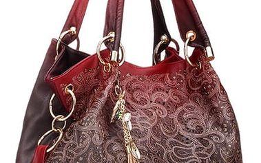 Elegantní dámská kabelka s precizním vzorováním