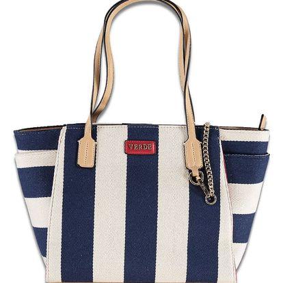 Modro-bílá kabelka Stripy