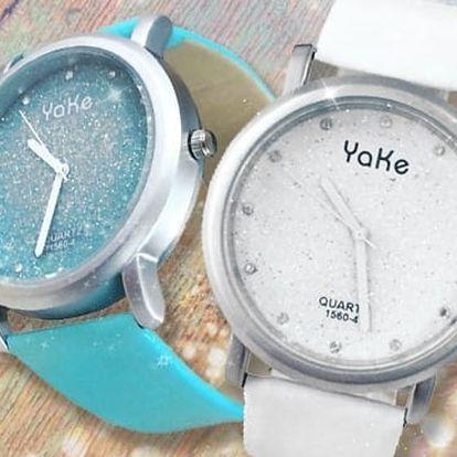 Dámské náramkové hodinky s třpytkami