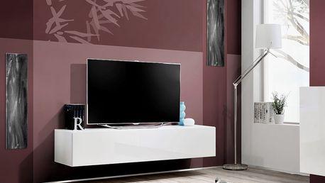 RTV stolek FLY 30, bílá matná/bílý lesk