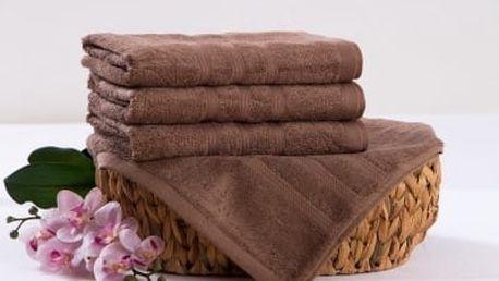 XPOSE ® Bambusová osuška SÁRA - hnědá 70x140 cm