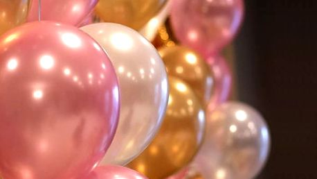 Sada balónků v perleťových barvách 20 ks