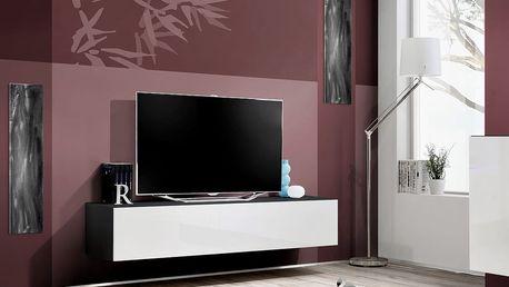 RTV stolek FLY 30, černá matná/bílý lesk