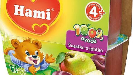 EXPIRACE 13. 07. 2017: HAMI 100 % Ovoce švestka a jablko (4x100g) - ovocný příkrm