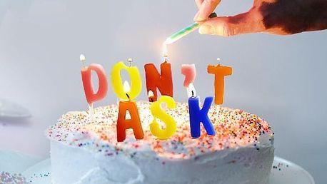 Narozeninové svíčky DON'T ASK