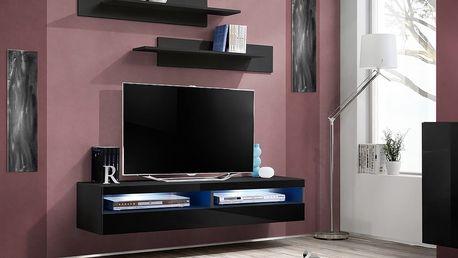 RTV stolek FLY 35, černá matná/černý lesk