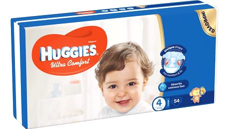 HUGGIES® Ultra Comfort 4 (8-14 kg) 54 ks – jednorázové pleny
