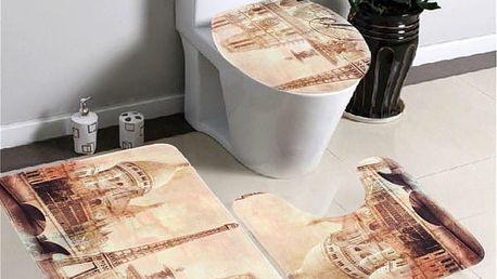Třídílná sada koberečků do koupelny - dodání do 2 dnů