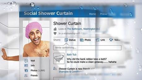 Sprchový závěs Sociální síť