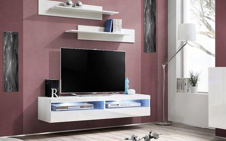RTV stolek FLY 35, bílá matná/bílý lesk