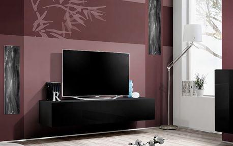 RTV stolek FLY 30, černá matná/černý lesk