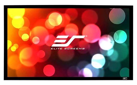 "Elite Screens plátno v pevném rámu CINEMA Scope 138"" (350,5 cm)/ 2,35:1 / 137,2 x 322,3 cm - R138WH1-Wide"