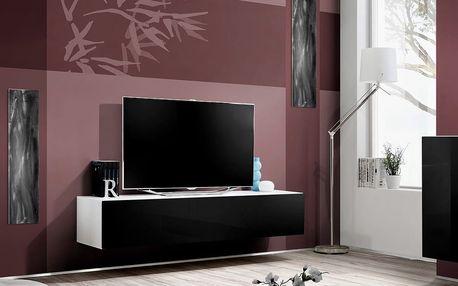 RTV stolek FLY 30, bílá matná/černý lesk