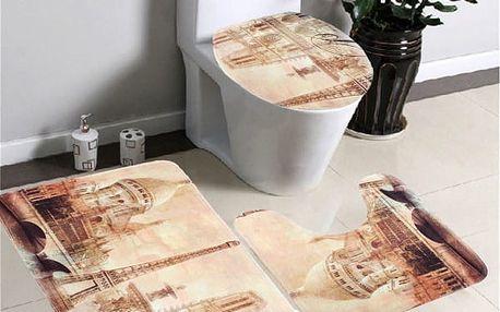 Třídílná sada koberečků do koupelny