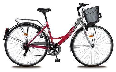 """Trekové kolo Olpran Mercury Lux 28"""" stříbrné/růžové + Doprava zdarma"""