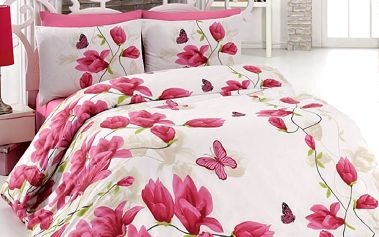 Tip Trade Bavlněné povlečení Alize Pink, 140 x 220 cm, 70 x 90 cm