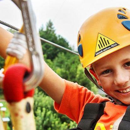 Adrenalinové dobrodružství v lanovém centru