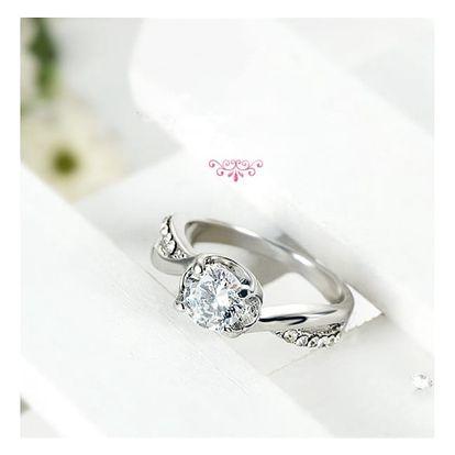 Dámský prstýnek - zlatá, stříbrná barva