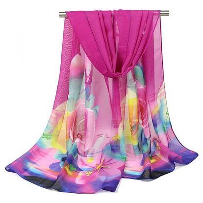 Lehoučký šifonový šátek - 5 barev