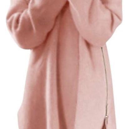 Dlouhý svetřík s postranním zipem - 3 barvy
