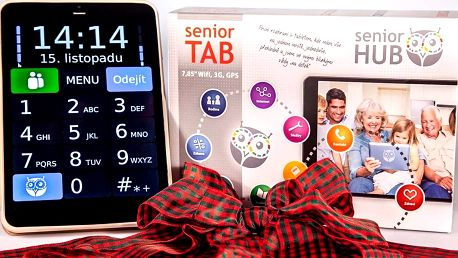 """Přehledný 7,85"""" tablet pro seniory"""