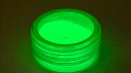 Fluorescenční prášek na tělo k oživení párty
