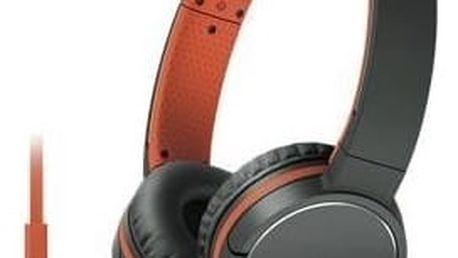 Sluchátka Sony MDR-ZX660APD.CE7, oranžová