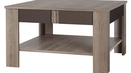 Konferenční stolek BOSTON T21, dub truflový/bronzový lesk