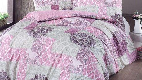Night in Colours Bavlněné povlečení Ottorino růžová, 140 x 200 cm, 70 x 90 cm