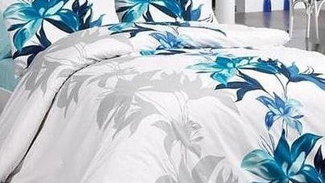 Bade Home Bavlněné povlečení Tuval modrá, 140 x 220 cm, 70 x 90 cm