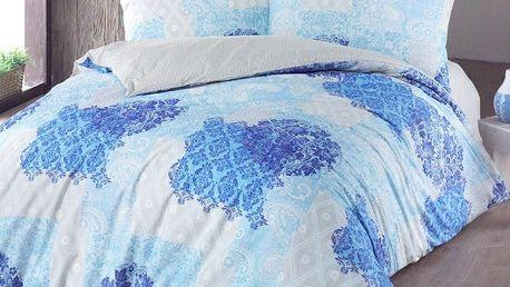 Night in Colours Bavlněné povlečení Ottorino modrá, 140 x 200 cm, 70 x 90 cm