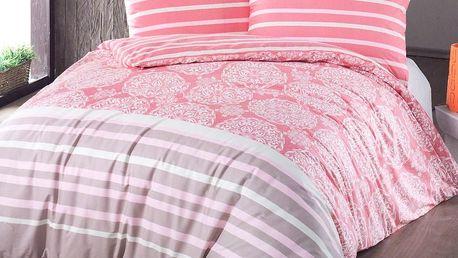 Night in Colours Bavlněné povlečení Morbido lososová, 140 x 200 cm, 70 x 90 cm