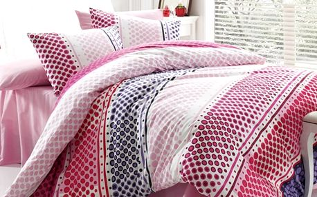 Tip Trade Bavlněné povlečení Fashion Pink, 140 x 200 cm, 70 x 90 cm