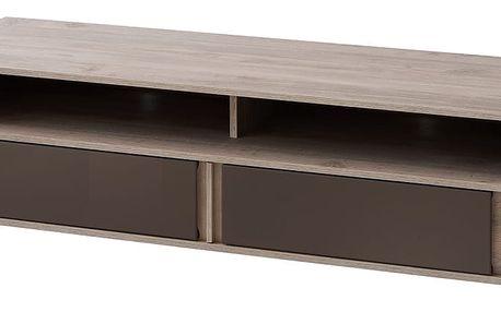 RTV stolek BOSTON T11, dub truflový/bronzový lesk