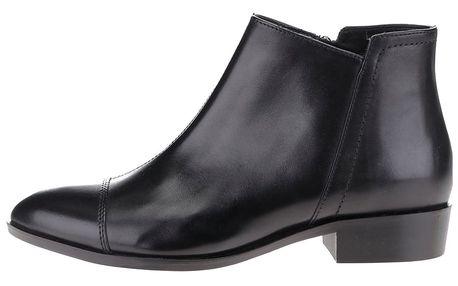 Černé dámské kožené kotníkové boty Geox Lover B