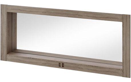 Zrcadlo BOSTON T18, dub truflový/bronzový lesk