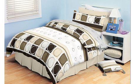 TipTrade bavlna povlečení Amelia Hnědé 140x200 70x90, 140 x 200 cm, 70 x 90 cm