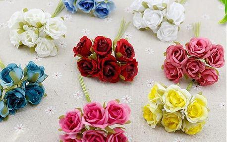 Umělé květiny - 6 ks