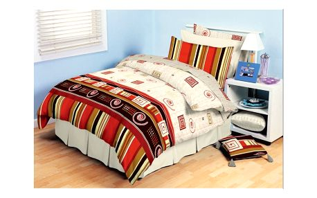 TipTrade bavlna povlečení Agnes Červené 140x200 70x90, 140 x 200 cm, 70 x 90 cm