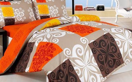 Povlečení Sedef oranž bavlna, 140 x 200 cm, 70 x 90 cm