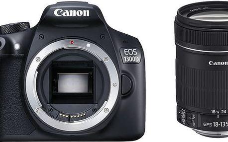 Canon EOS 1300D + 18-135 IS - 1160C093 + Canon Custom Gadget Bag 100EG - systémová brašna pro DSLR v ceně 990 Kč