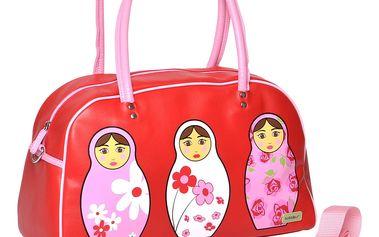 Dívčí kabelka červená / růžová