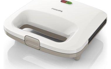 Sendvičovač Philips HD 2392/00 Příkon 820 W, bílé provedení