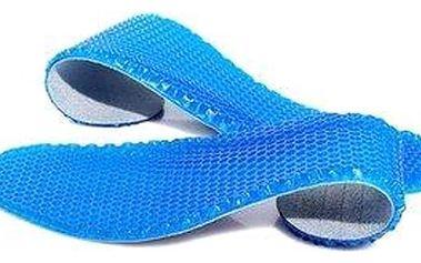 Gelové vložky do bot v modré barvě